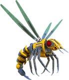 Изолированная оса пчелы робота насекомого иллюстрация штока