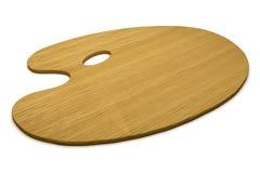 изолированная палитра деревянная Стоковые Фотографии RF