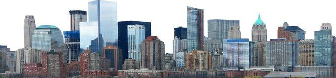 Изолированная панорама знамени горизонта города стоковое изображение rf