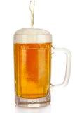 изолированная пивом белизна кружки Стоковые Фото