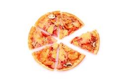 изолированная пицца отрезала вкусное Стоковые Изображения RF