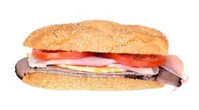 изолированная подводная лодка сандвича Стоковое Изображение