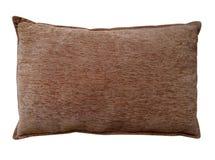 Изолированная подушка - коричневый цвет Стоковое фото RF