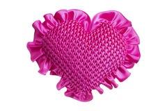 Изолированная подушка сердца Стоковые Фотографии RF