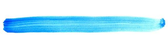 Изолированная покрашенная нашивка голубая Стоковое Изображение RF