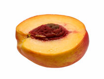 изолированная половиной белизна камня персика Стоковая Фотография