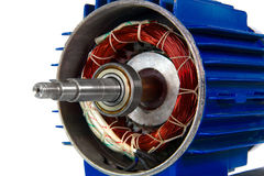 изолированная предпосылкой белизна мотора стоковое изображение