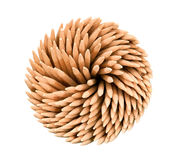 изолированная предпосылкой древесина белизны toothpicks Стоковое Изображение