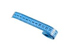 изолированная предпосылкой измеряя белизна ленты Стоковые Фото