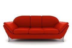 изолированная предпосылкой кожаная красная белизна софы бесплатная иллюстрация