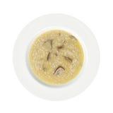 изолированная предпосылка величает белизна риса плиты Стоковое Изображение RF