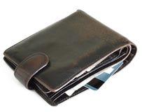 изолированная предпосылкой белизна бумажника Стоковые Изображения