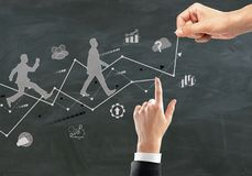 изолированная принципиальная схема карьеры 3d представляет белизну Стоковое Изображение