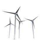 Изолированная принципиальная схема энергии энергии ветра Стоковая Фотография RF