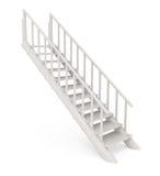 изолированная принципиальной схемой белизна stairway Стоковое Изображение RF