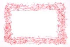 изолированная рамка предпосылки продевает нитку белизну Стоковые Изображения