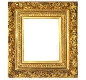 Изолированная рамка фото, золотая античная рамка фото Крася рамка стоковое фото