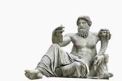 изолированная римская статуя Стоковая Фотография