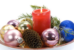 изолированная рождеством белизна орнамента Стоковая Фотография