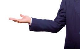 Изолированная рука бизнесмена стоковые изображения