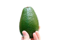 изолированная рука avokado Стоковое Изображение RF