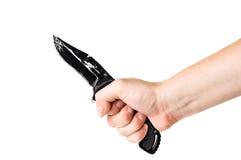 изолированная рукой белизна ножа Стоковое Изображение RF