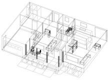 Изолированная светокопия †дизайна квартиры «- иллюстрация штока