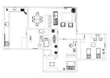 Изолированная светокопия архитектора квартиры - иллюстрация штока