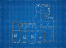 Изолированная светокопия плана квартиры - Стоковое фото RF