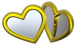 изолированная сердцами белизна серебра 2 Стоковое Изображение RF