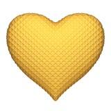 изолированная сердцем белизна вафли Стоковая Фотография RF