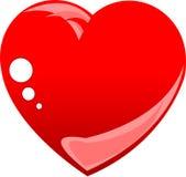 изолированная сердцем белизна влюбленности красная стилизованная иллюстрация штока