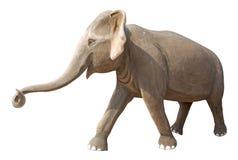 изолированная слоном белизна статуи Стоковое фото RF