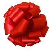 изолированная смычком красная белизна взгляда сверху Стоковые Фото