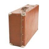 изолированная старая белизна чемодана Стоковое Фото