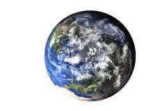 Изолированная сторона земли планеты верхняя солнечной системы Элементы этого изображения поставленные NASA стоковые фото