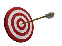 изолированная стрелкой красная белизна цели Стоковое Фото
