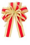 Изолированная тесемка красного цвета и золота Стоковое Изображение