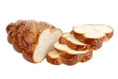 изолированная хлебом белизна хлебца длиной отрезанная Стоковое Изображение RF