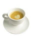 Изолированная чашка эспрессо стоковая фотография