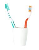 изолированная щеткой белизна зуба Стоковая Фотография RF