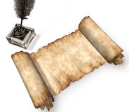 изолированная 3d белизна крена пергамента жизни все еще Стоковые Фото
