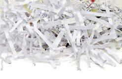 изолированная shredded бумага Стоковые Фото