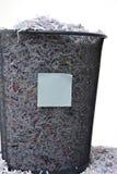 изолированная shredded бумага Стоковое фото RF