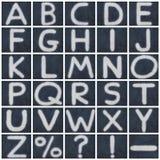 Изолированное алфавитом письмо мела в предпосылке классн классного Стоковая Фотография