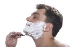 изолированное бритье людей стоковые фотографии rf