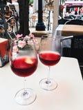 изолированное вино waite om красное Стоковая Фотография RF
