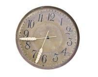 Изолированное время хлебоуборки clockdial и стрелки ушей Стоковые Фотографии RF