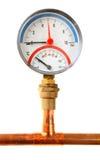 изолированное давление метра Стоковая Фотография