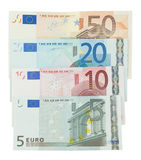изолированное евро кредиток Стоковая Фотография